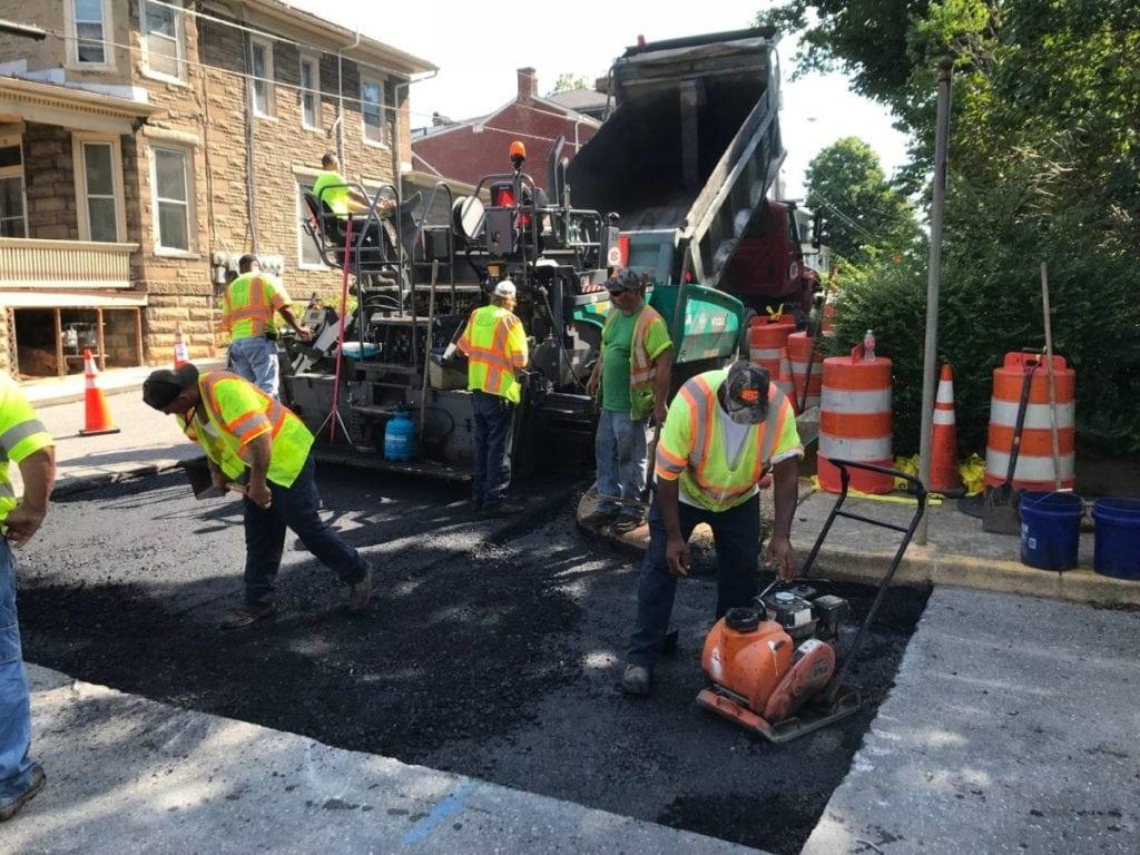asphalt street repair